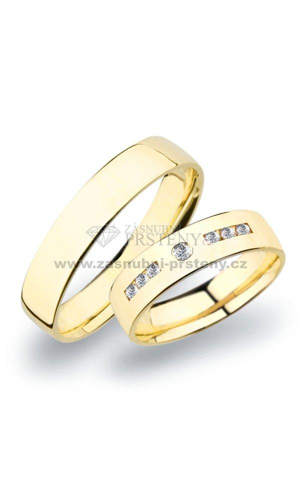Sp 270 Snubni Prsteny Zlute Zlato Sp 270z Zasnubni Prsteny Cz