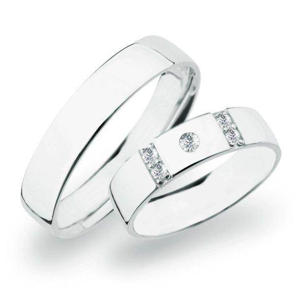 SP-272 Snubní prsteny bílé zlato SP-272B