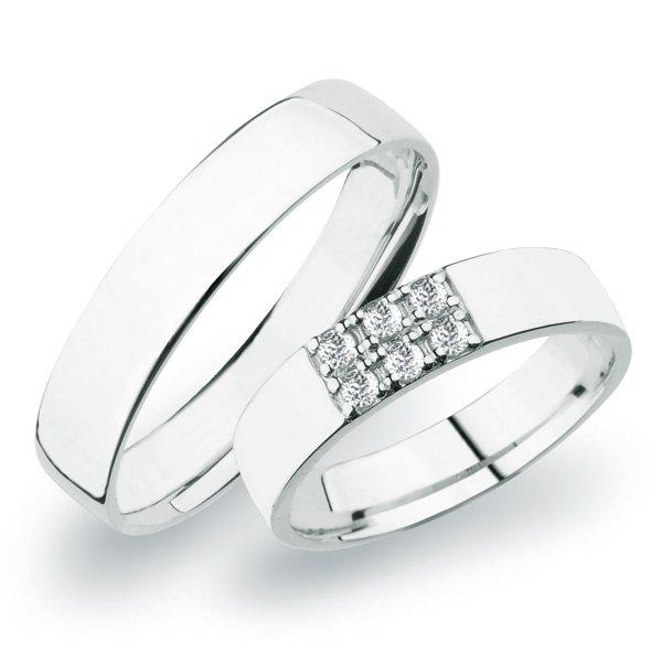SP-271 Snubní prsteny z bílého zlata SP-271B