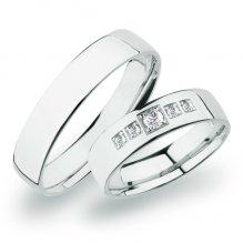 SP-273 Snubní prsteny bílé zlato SP-273B