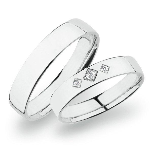 SP-274 Snubní prsteny bílé zlato SP-274B