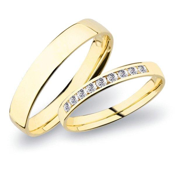 SP-277 Snubní prsteny žluté zlato SP-277Z