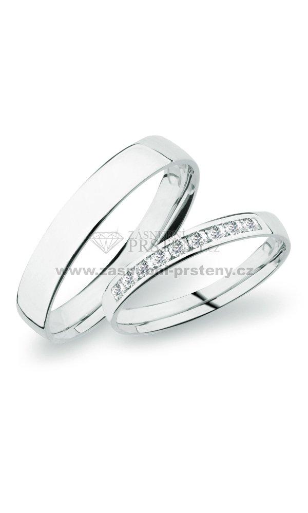 Sp 277 Snubni Prsteny Bile Zlato Sp 277b Zasnubni Prsteny Cz