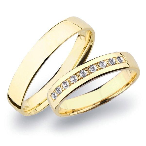 SP-276 Zlaté snubní prsteny se zirkony SP-276Z