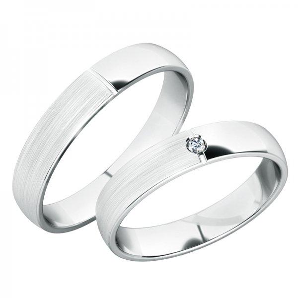 Snubní prsteny bílé zlato SP-244B