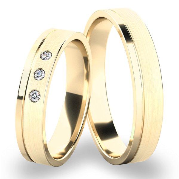 Snubní prsteny ze žlutého zlata SP-243-ZL