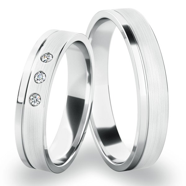 Snubní prsteny z bílého zlata SP-243-B
