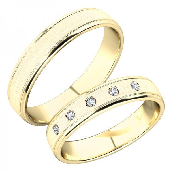Snubní prsteny ze žlutého zlata SP-251Z