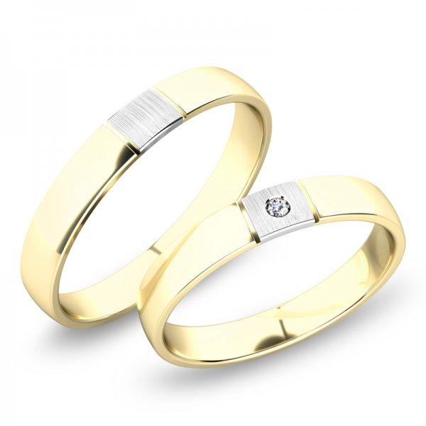 Snubní prsteny ze žlutého zlata SP-248Z