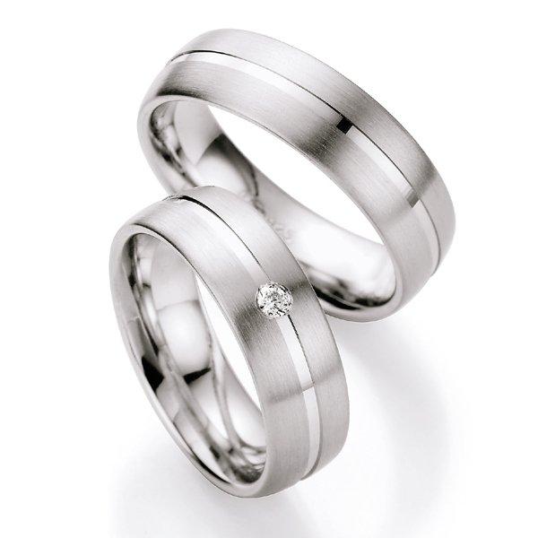 Stříbrné snubní prsteny s diamantem S222 S222
