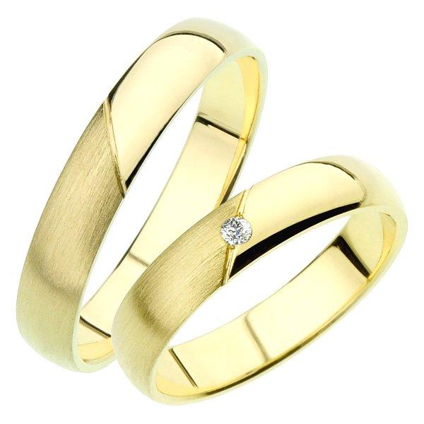 Snubní prsteny ze žlutého zlata SP-237Z
