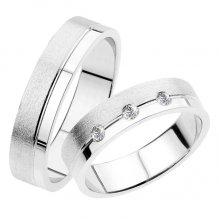 Snubní prsteny bílé zlato SP-234
