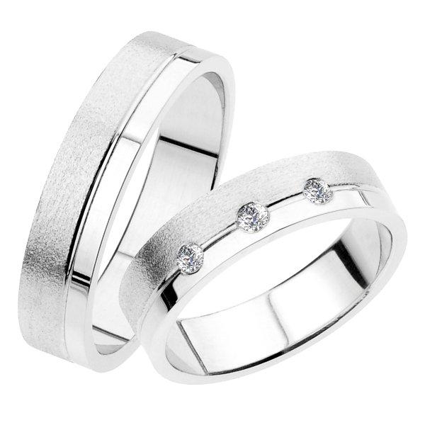 SP-234 Snubní prsteny bílé zlato SP-234
