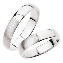 SP-244B Snubní prsteny bílé zlato SP-244B