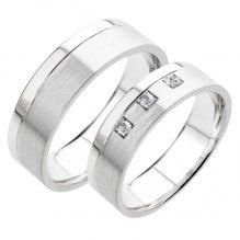 Snubní prsteny bílé zlato SP-222