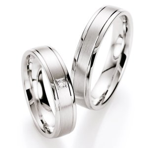 Snubní prsteny stříbrné s diamantem S10030 S10030