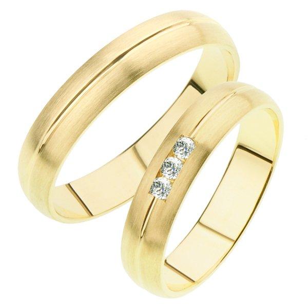 Snubní prsteny ze žlutého zlata SP-239Z