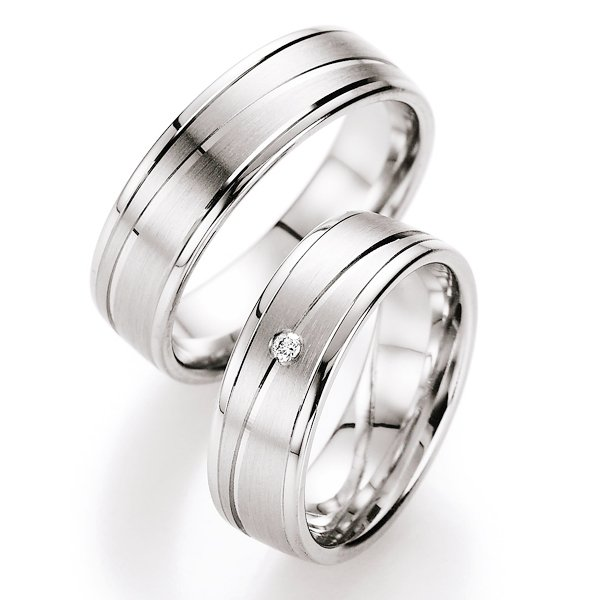 Snubní prsteny stříbrné s diamantem S10050 S10050