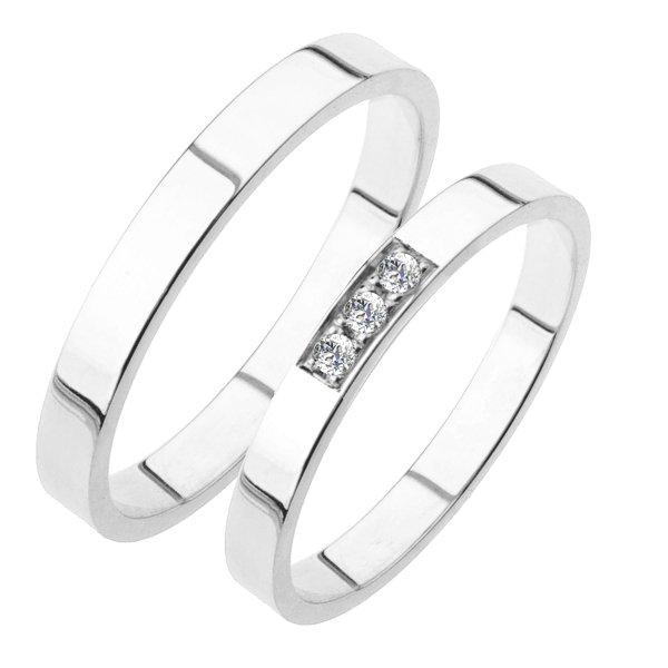 Snubní prsteny bílé zlato SP-216