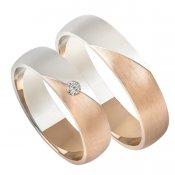 Zlaté snubní prsteny SP-208