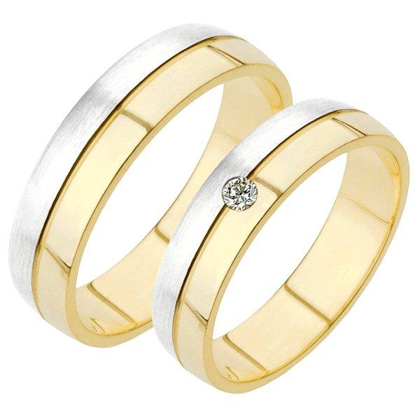 Zlaté snubní prsteny SP-229
