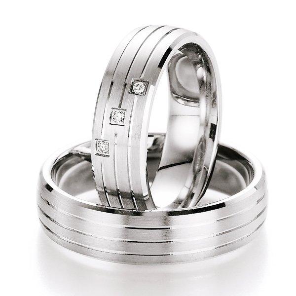 Snubní prsteny stříbrné s diamantem S10070 S10070