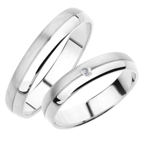 Snubní prsteny bílé zlato SP-245B
