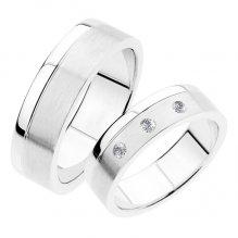 Snubní prsteny z bílého zlata SP-235