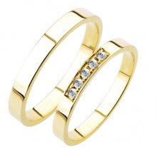 Snubní prsteny žluté zlato SP-217
