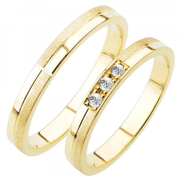 Snubní prsteny ze žlutého zlata SP-232Z