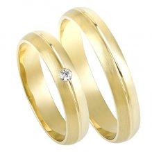 Zlaté snubní prsteny SP-200Z