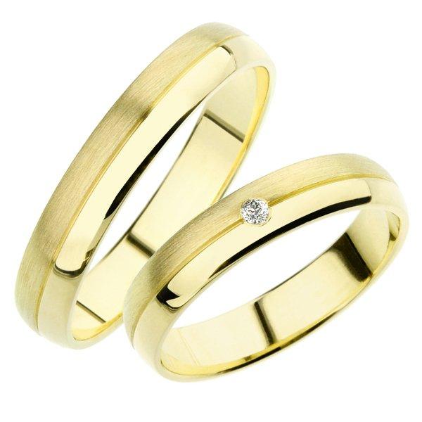 Snubní prsteny žluté zlato SP-245Z