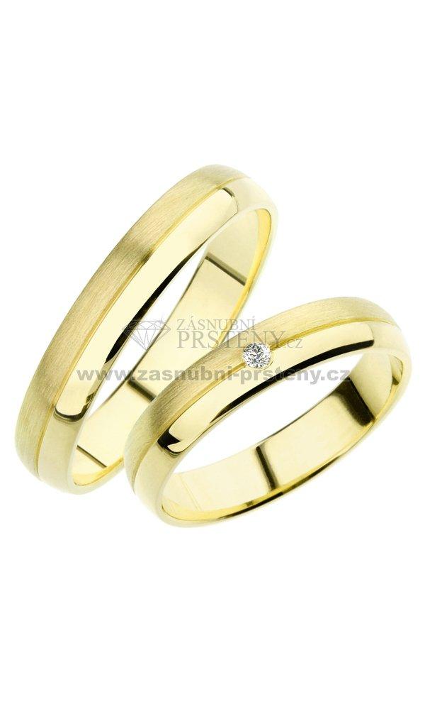 Sp 245 Snubni Prsteny Zlute Zlato Sp 245z Zasnubni Prsteny Cz