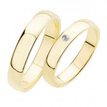 Snubní prsteny ze žlutého zlata SP-202Z
