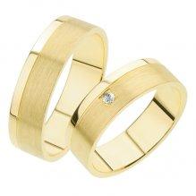 Snubní prsteny ze žlutého zlata SP-241Z