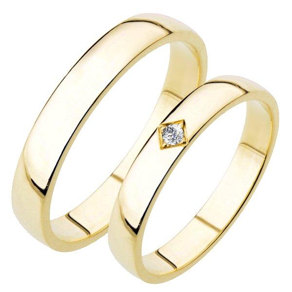 Snubní prsteny žluté zlato SP-204Z
