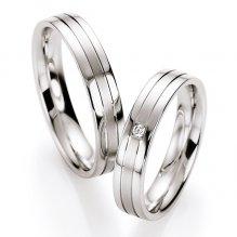 Snubní prsteny stříbrné s diamantem S10130 S10130