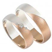 Zlaté snubní prsteny SP-209