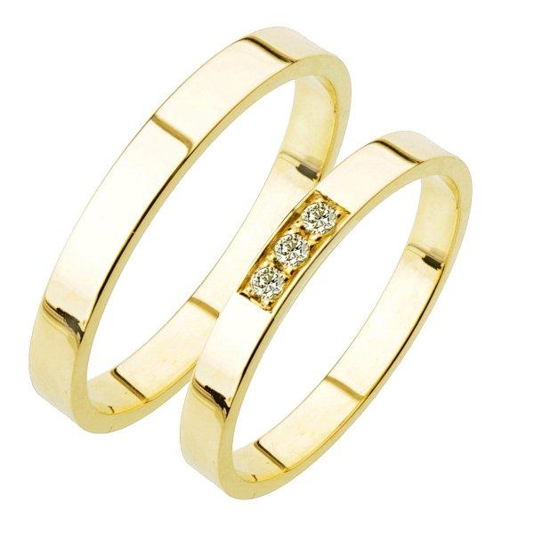 Zlaté snubní prsteny SP-215