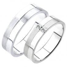 Snubní prsteny bílé zlato SP-228